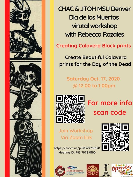 Creating Calavera Block Print with Rebecca