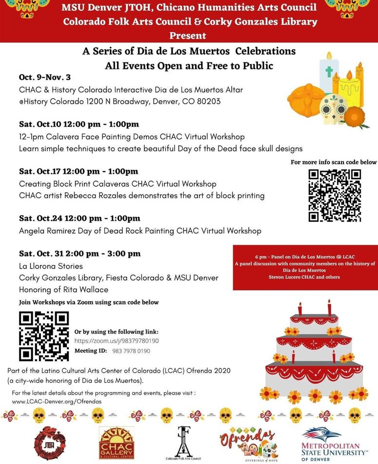 CHAC Dia de los Muertos Events