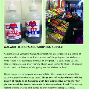 Walworth Society - (w/c 6 July) Virtually Walworth Events, Latest News and Activities during Covid-1