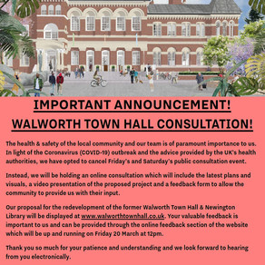 Walworth Society - News and Activities during Covid Crisis