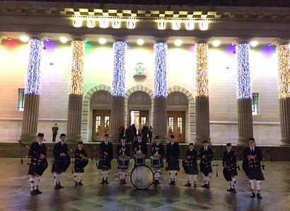 MacKenzie Caledonian Pipe Band - Mini Macs at folk awards