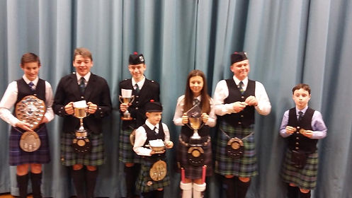 MacKenzie Caledonian Pipe Band - Young prize winners at branch solos