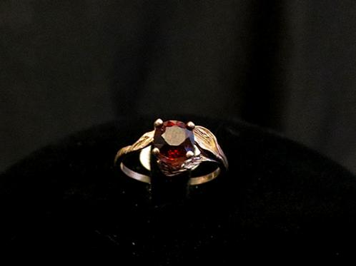 Spessartite Garnet Floral Ring