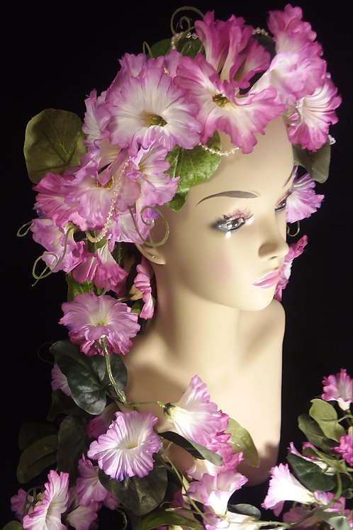Cascading Floral Crown