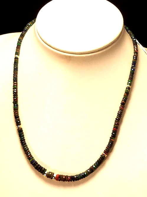 Ethiopian Black Opal & 14kt Gold