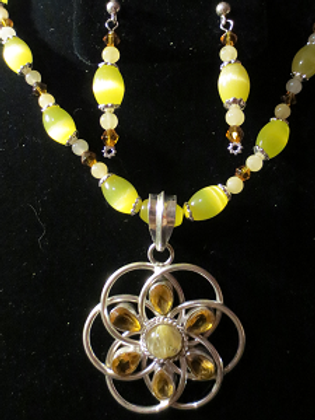 Sterling Silver & Citrine Sun Set