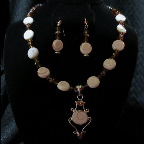 Shiva's Eye Necklace set