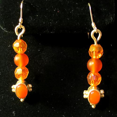 Sterling Silver & Carnelian Earrings