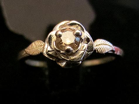 Champagne Diamond Rose Ring