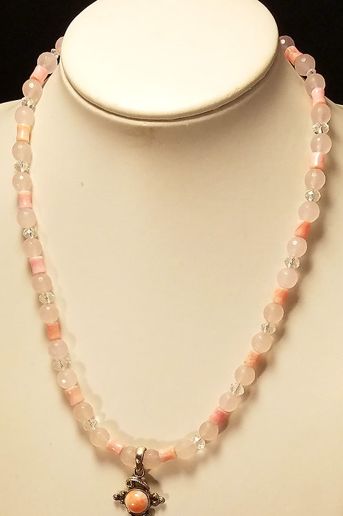 Pink Coral & Chalcedony