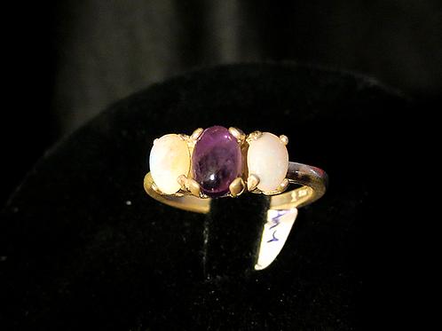 Amethyst & Opal Ring
