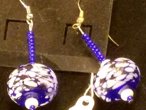 Blue Blown Glas Earrings