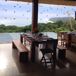 This is the view from the wedding I'm playing today.  I surfed down there this morning