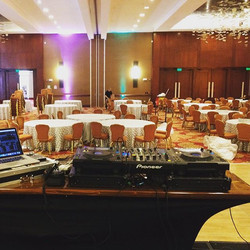 Literally 6 hours since I got home from my last gig, here is today's dj booth... In another city...