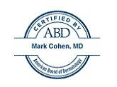 Seal certifying Mark Cohen, MD, by the American Board of Dermatology
