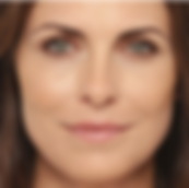 A middle-aged woman's face with smooth skin