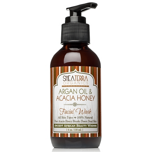 Shea Terra Argan Oil & Acacia Honey Facial Wash, 4oz