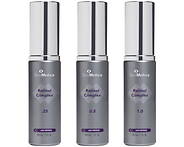 Three 1oz bottles of SkinMedica Retinol Complex in 0.25%, 0.5% and 1.0% levels
