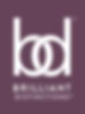 The grayish-purple Brilliant Distinctions logo