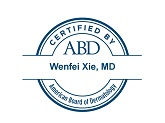 Seal certifying Wenfei Xie, MD, by the American Board of Dermatology