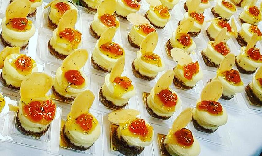 Ricotta and Mascarpone Cheesecake | Mint Tuile | Kumquat Jelly