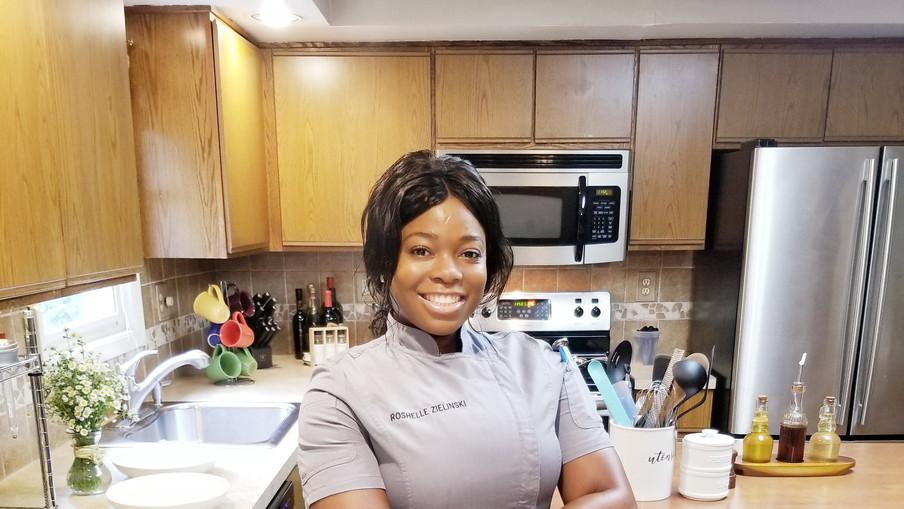 Chef Roshelle in action