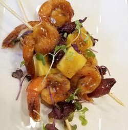 Maple Bourbon Glazed Shrimp _ Spicy Pear