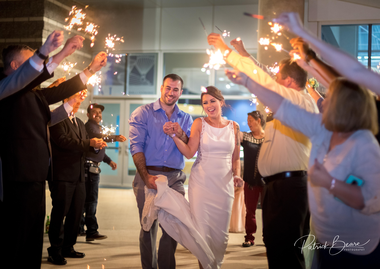 Albuquerque Balloon Museum Wedding Sparkler Send Off