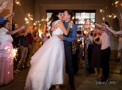 Sparkler Send Off Albuquerque Wedding