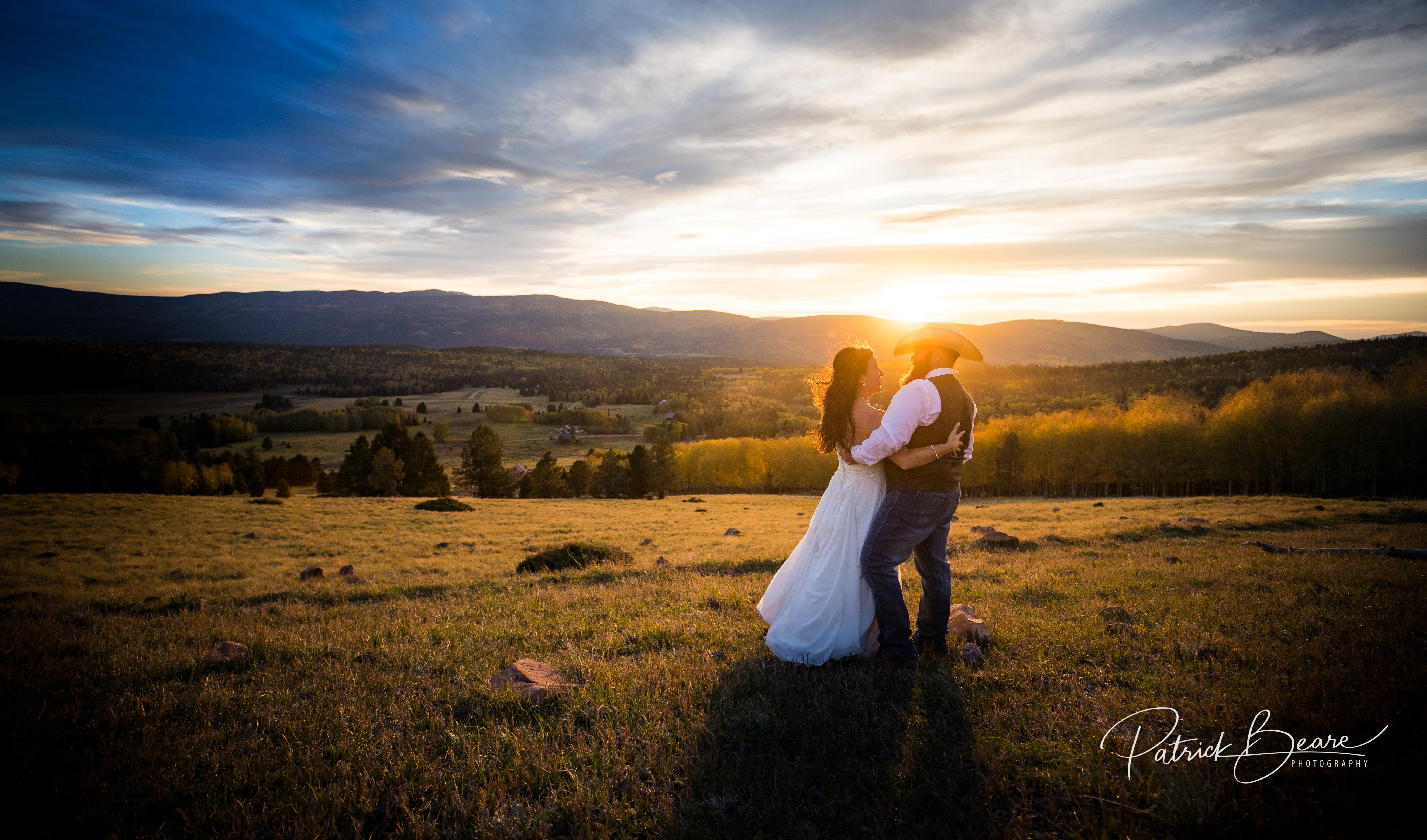 Taos Sunset Country Wedding