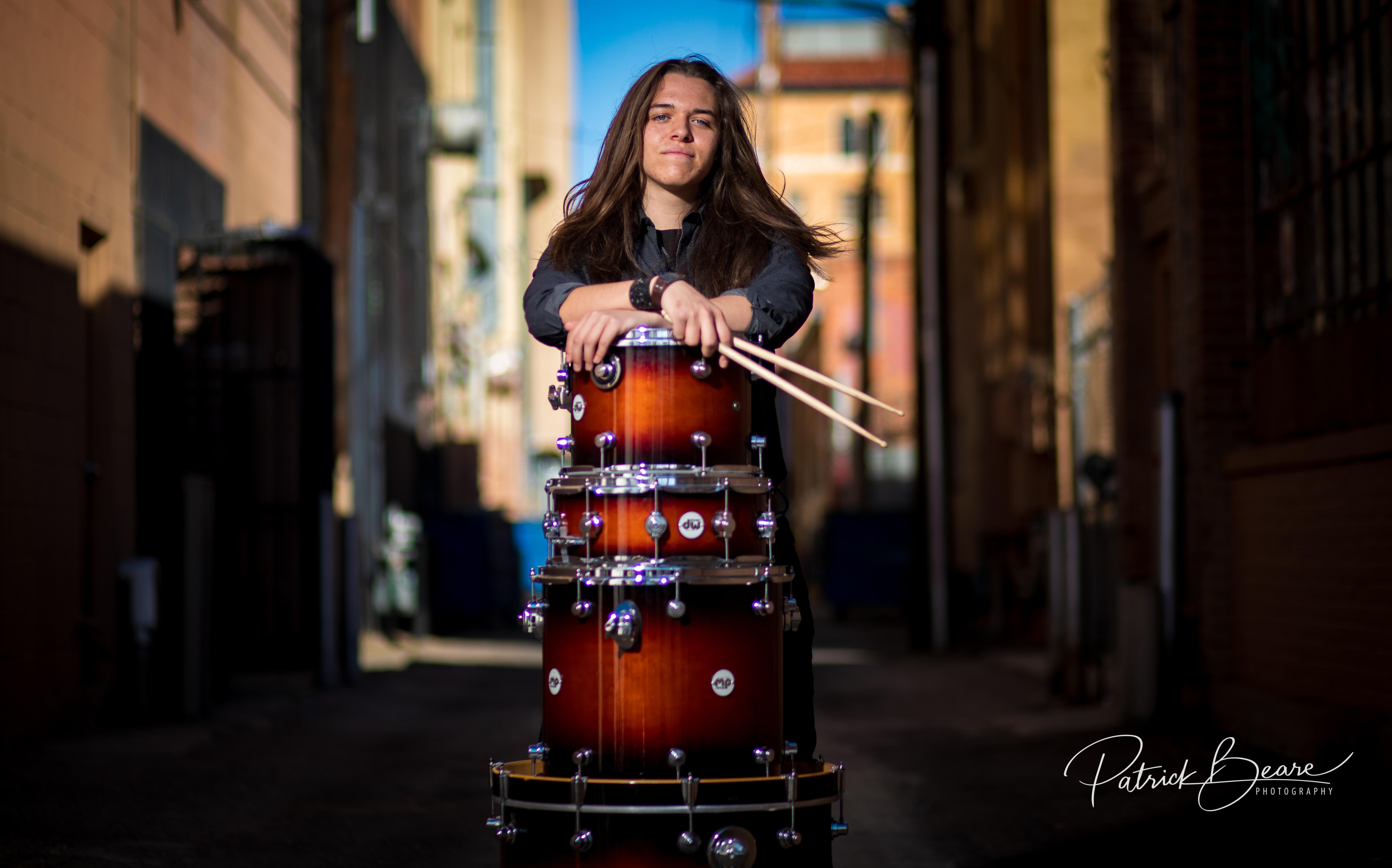 Albuquerque Senior Photographer Drums Music Rock Instrument