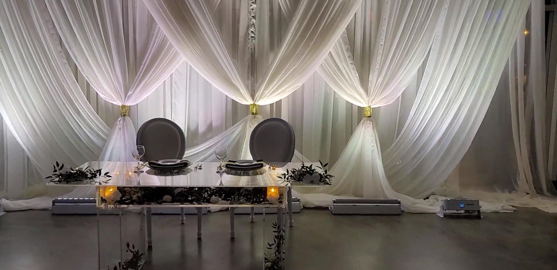 Bride & Groom Table setup