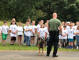 Officer Long and Ranger - all students.J