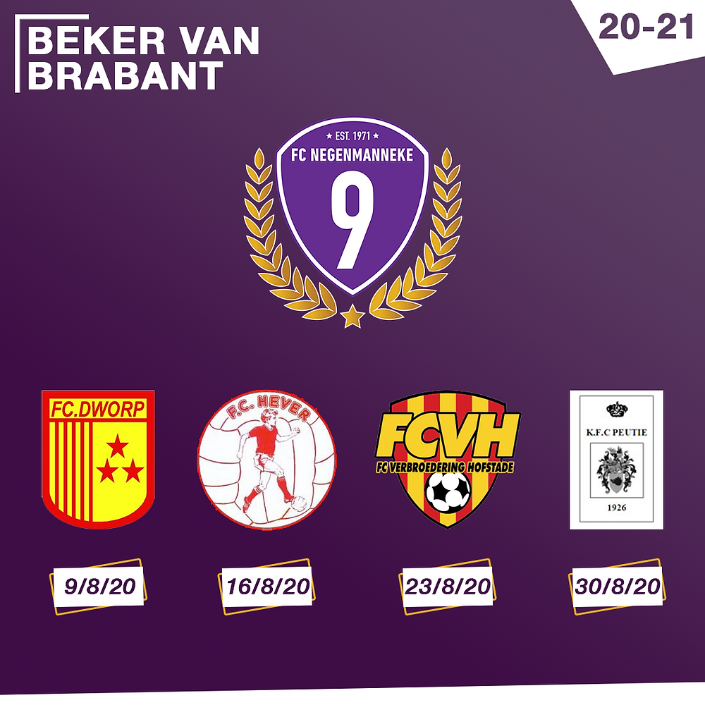 FC Negenmanneke Beker van Brabant 2020-2021