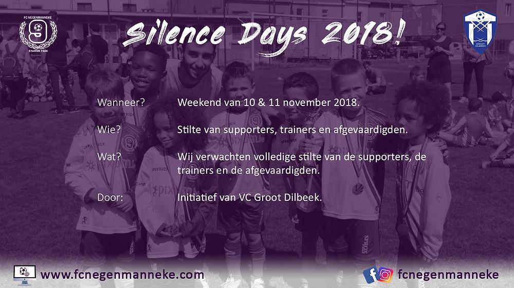 fc negenmanneke Silence Days 2018
