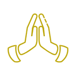 pray hands with transparent background.p