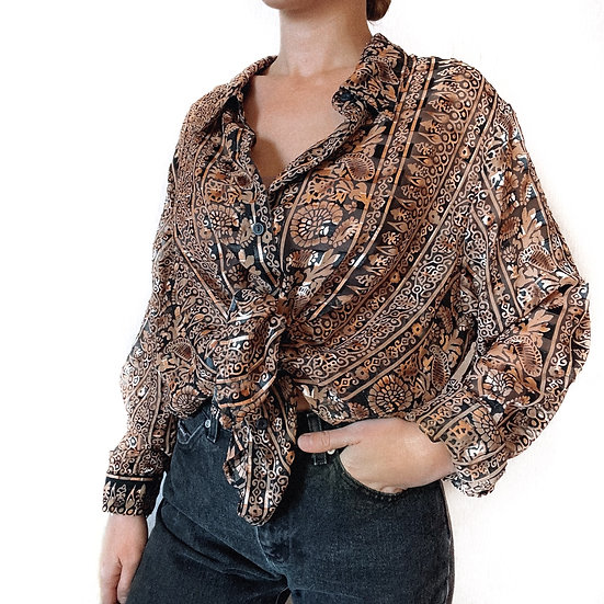 Vintage Sheer Blouse (XL)