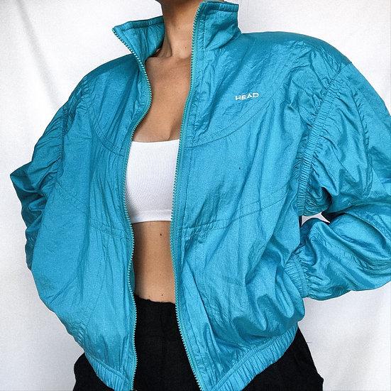 80's Turquoise Windbreaker (S)