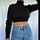 Thumbnail: Corded & Cropped Fitted Turtleneck (S)