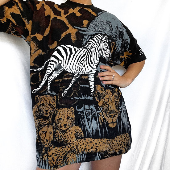 90's Exotic Animal T-Shirt (XL)