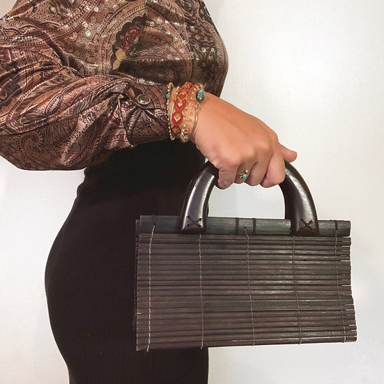 Vintage Bamboo Clutch