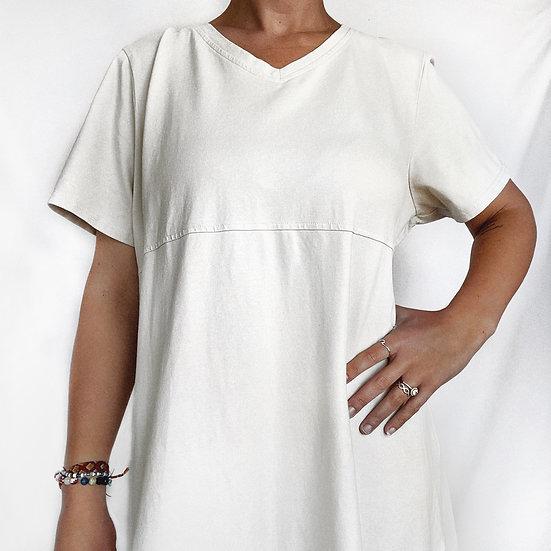 Cream Maxi Dress (XL)