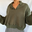 Thumbnail: Olive Knit Crop Sweater (L)