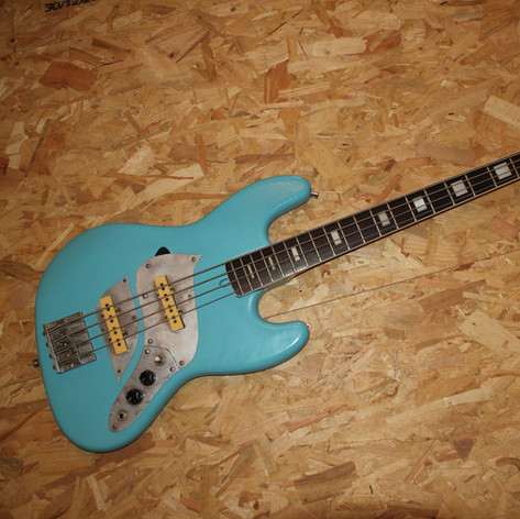 Customised Aria Diamond Jazz bass guitar, 1979, Di Marzio pickups