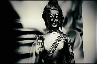 Poster de Boudha noir et blanc - Shanti Massage
