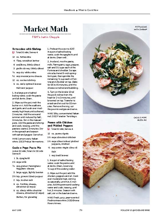 Food & Wine, May 2015