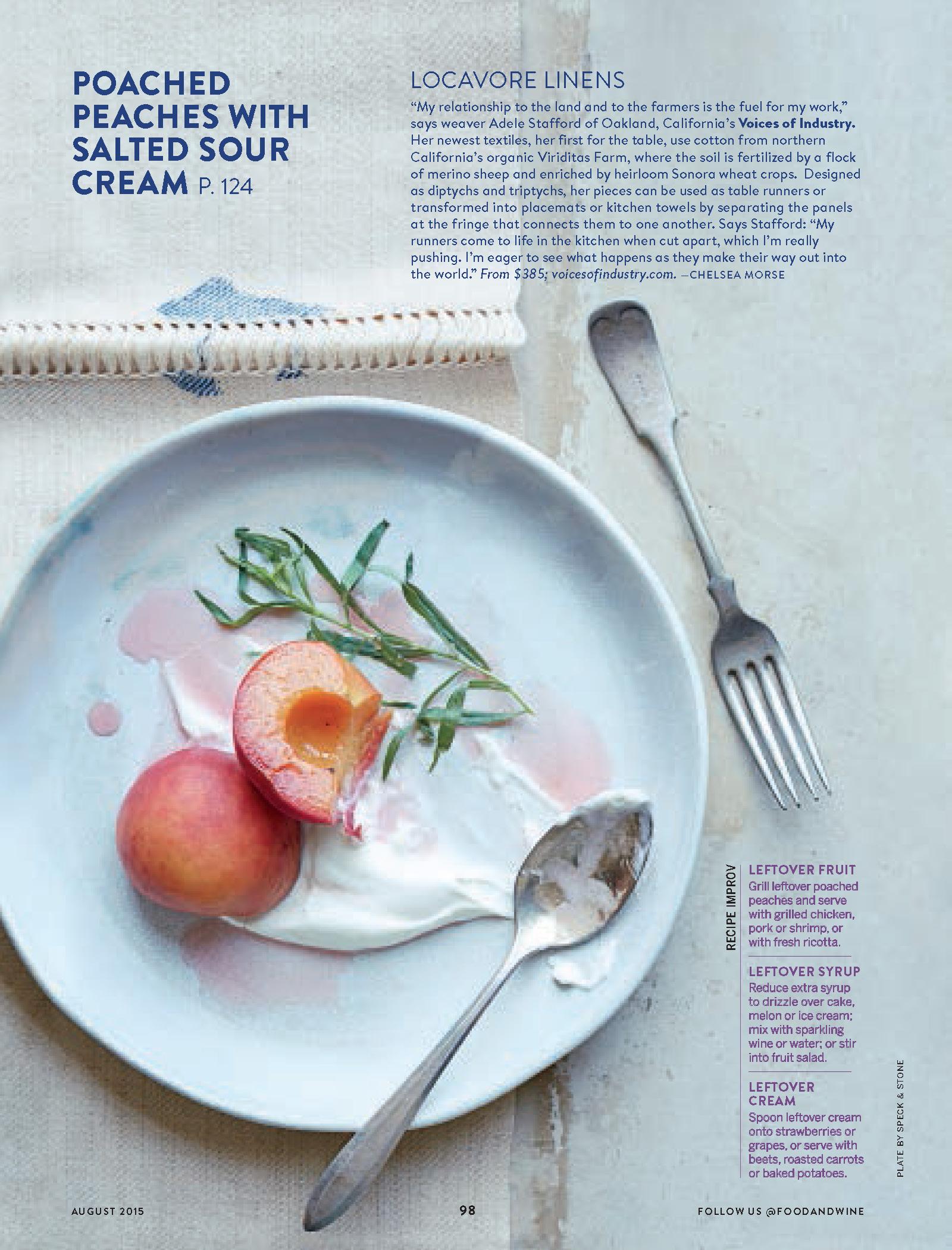 Food & Wine, August 2015