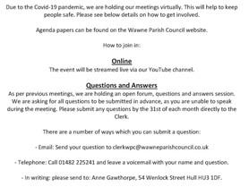Wawne Parish Council - April Meeting Notice