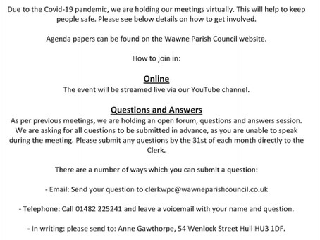 Wawne Parish Council - April Meeting Notice