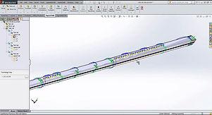 th65 fiber lézervágó CAD tervező szoftverének számítógépes nézete